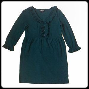 Spense Ruffle Front Sweater Dress - Make an Offer!